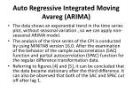 auto regressive integrated moving avareg arima
