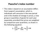 paasche s index number