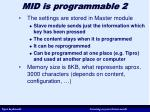 mid is programmable 2