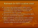 rationale for kfs creation contd6