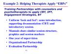 example 2 helping therapists apply ebps