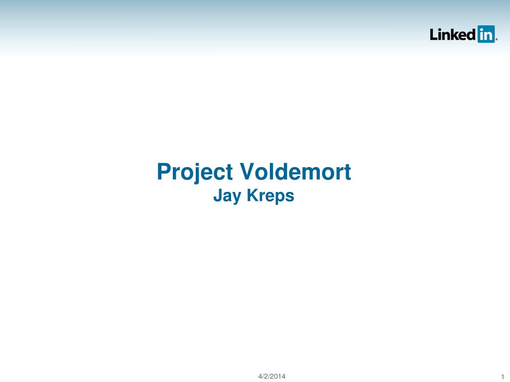 project voldemort jay kreps l.