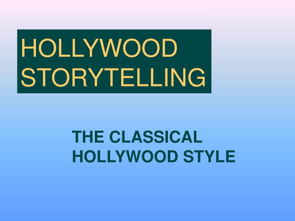 HOLLYWOOD STORYTELLING