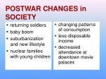 postwar changes in society