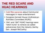 the red scare and huac hearings