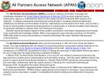 all partners access network apan