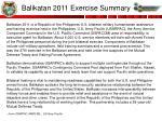 balikatan 2011 exercise summary