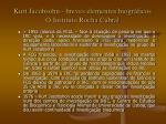 kurt jacobsohn breves elementos biogr ficos o instituto rocha cabral6