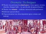 dramatic techniques42