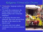 religious vernacular drama