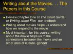 writing about the movies the papers in this course