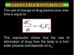 integrated equations