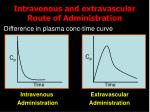 intravenous and extravascular route of administration