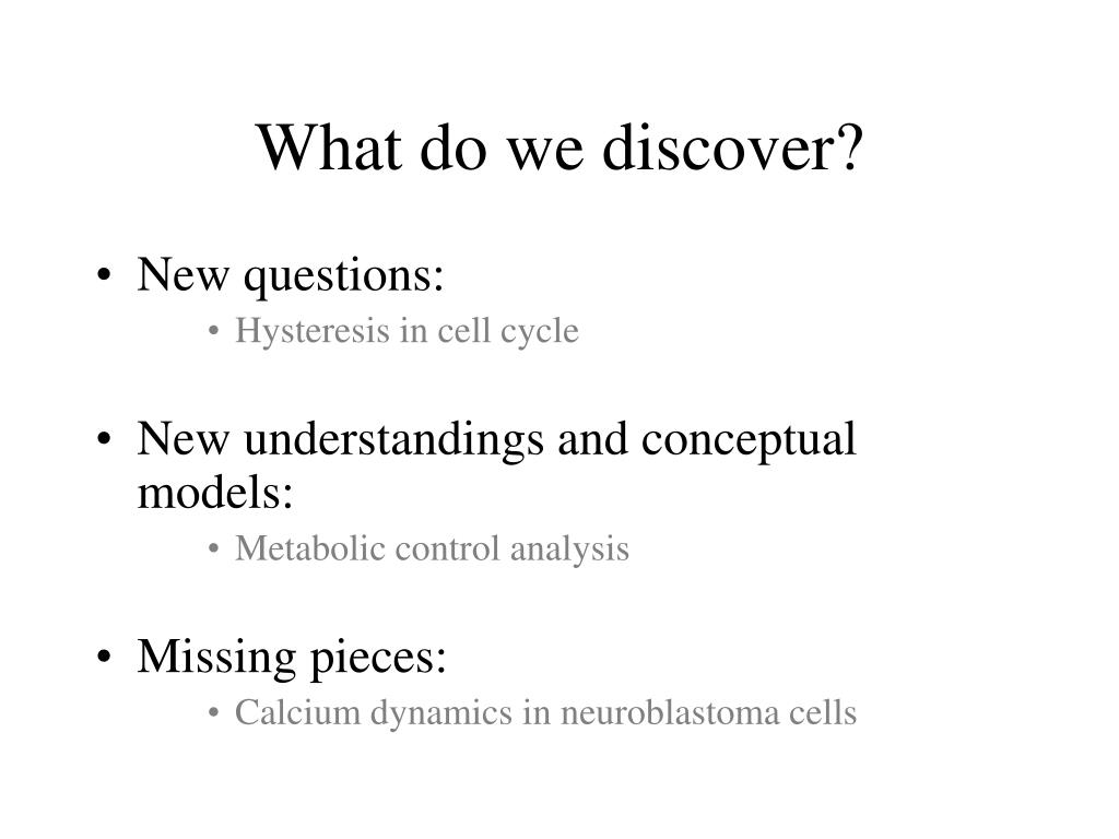 What do we discover?
