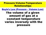 pressure volume temperature relationships37