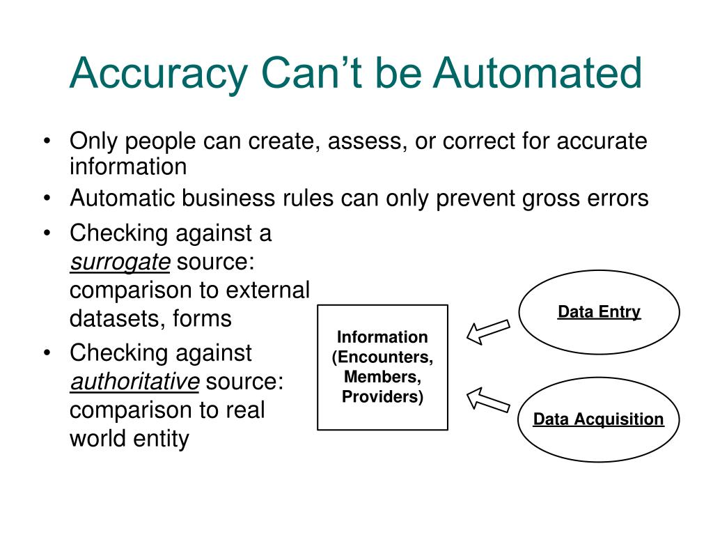 Accuracy Can't be Automated