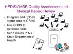 hedis qarr quality assessment and medical record review29