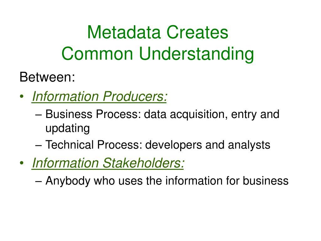 Metadata Creates