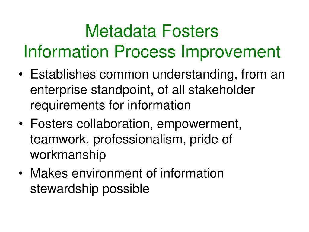 Metadata Fosters