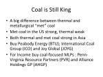 coal is still king