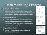 data modeling process