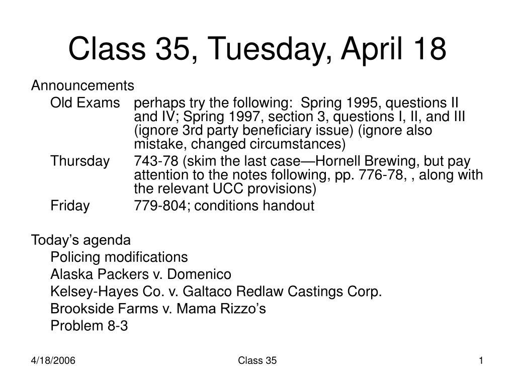 class 35 tuesday april 18 l.