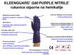 kleenguard g80 purple nitrile rukavice otporne na hemikalije
