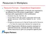 resources in workplans12