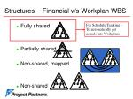 structures financial v s workplan wbs