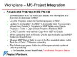 workplans ms project integration20
