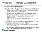 workplans progress management