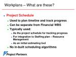 workplans what are these