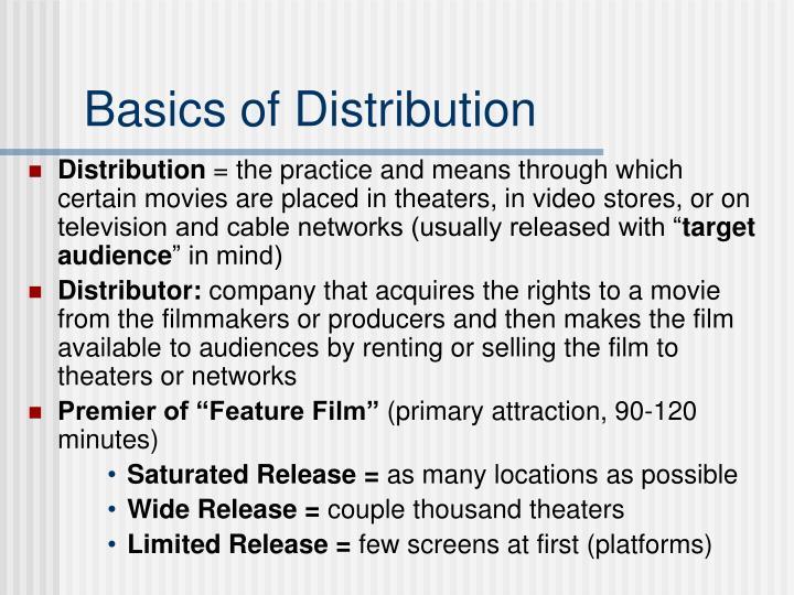 Basics of distribution