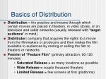 basics of distribution