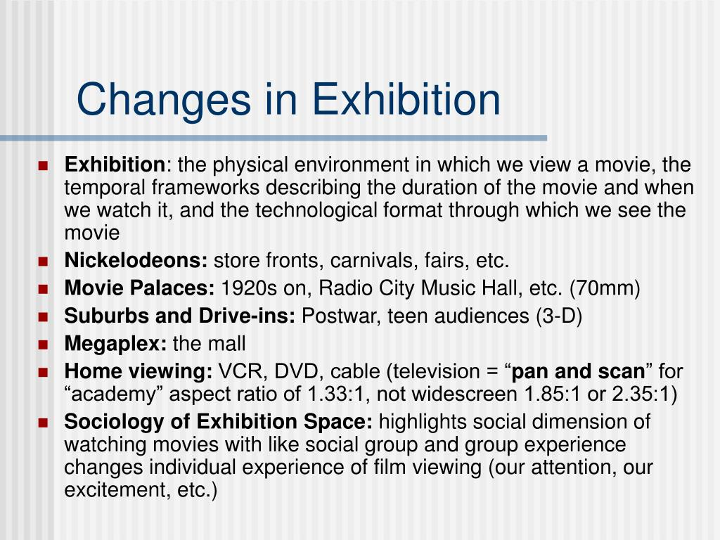 Changes in Exhibition