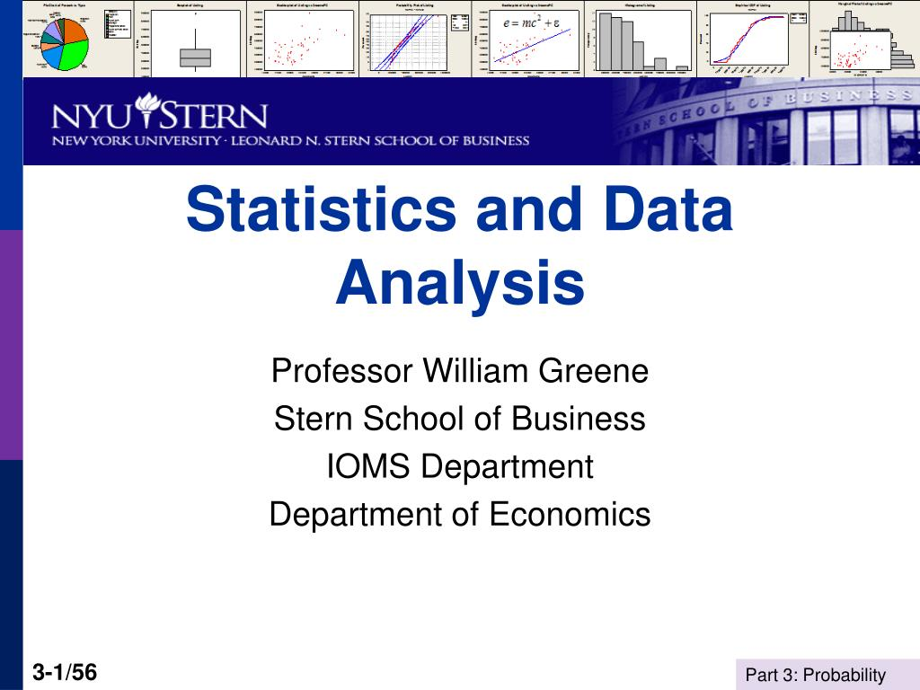 statistics and data analysis l.