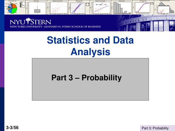 Statistics and data analysis3