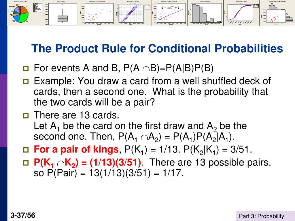 The Product Rule for Conditional Probabilities