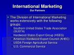 international marketing our partners