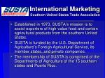 international marketing southern united states trade association
