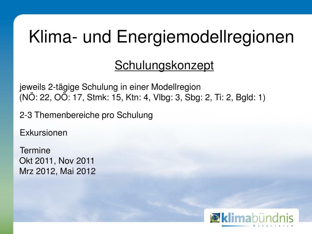 klima und energiemodellregionen l.
