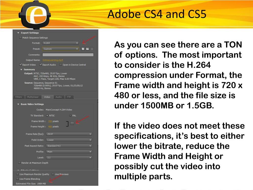 Adobe CS4 and CS5