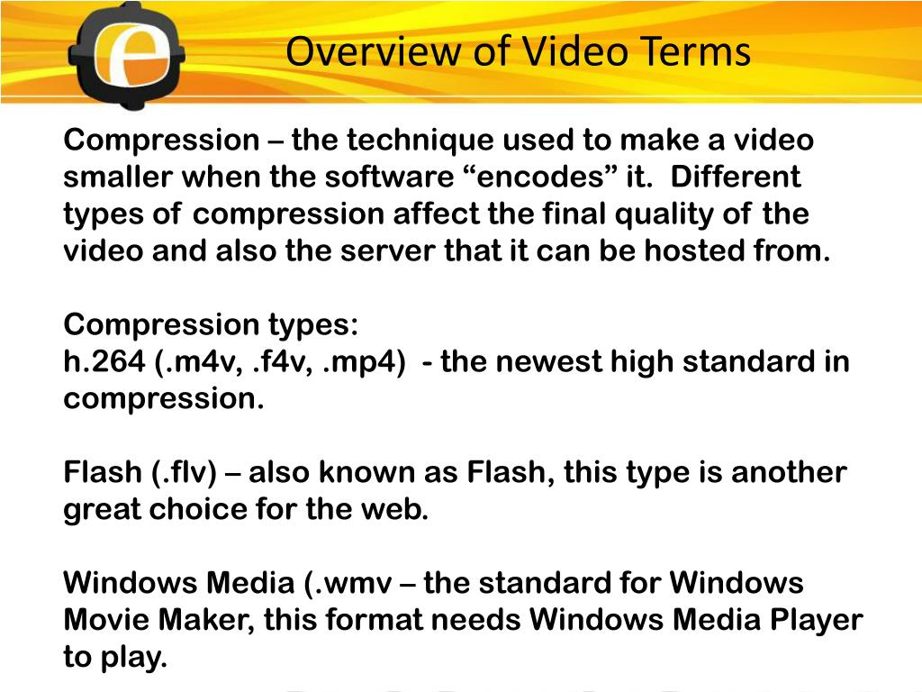 Overview of Video Terms