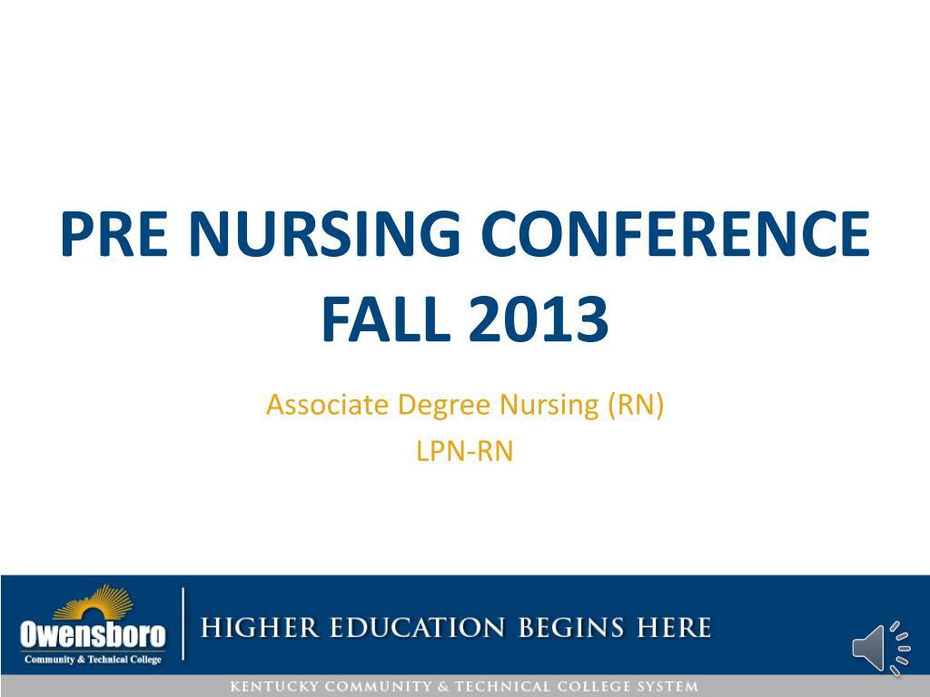 pre nursing conference fall 2013 l.