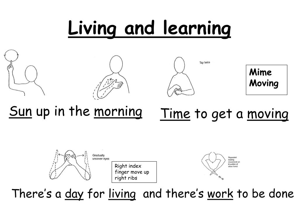 living and learning l.