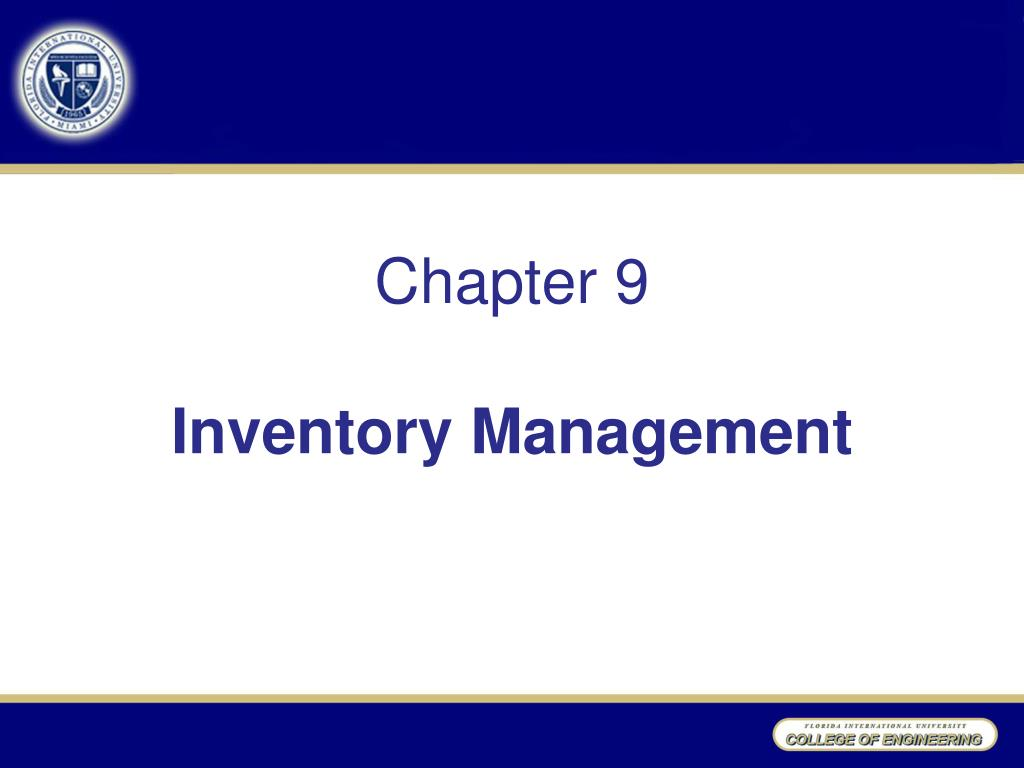 chapter 9 inventory management l.