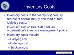 inventory costs