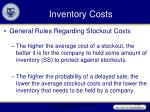 inventory costs22