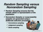 random sampling versus nonrandom sampling
