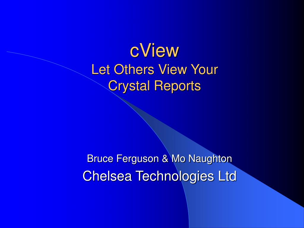 cview let others view your crystal reports l.